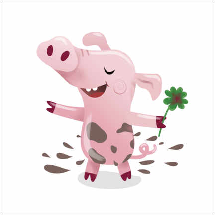 Canvas print  Lucky pig - Heyduda
