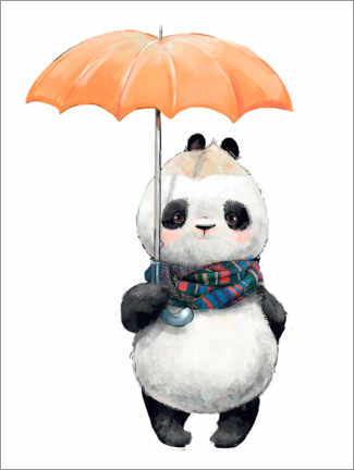 Canvas print  Panda bear with an umbrella - Kidz Collection