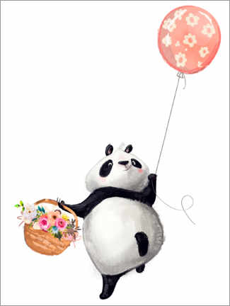 Canvas print  Panda bear with balloon - Kidz Collection