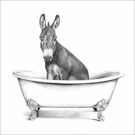Canvas print  Donkey in the tub - Victoria Borges