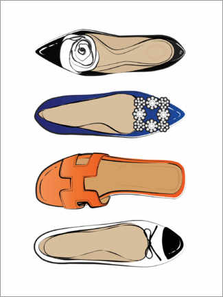 Acrylglas print  Luxury shoes - Martina illustration