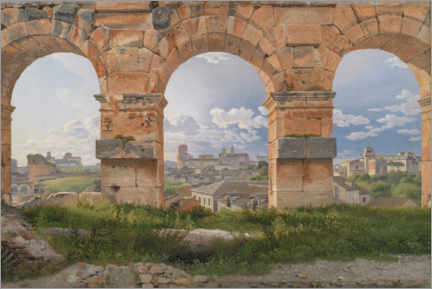 Gallery print  View through three arches from the Colosseum - Christoffer-Wilhelm Eckersberg