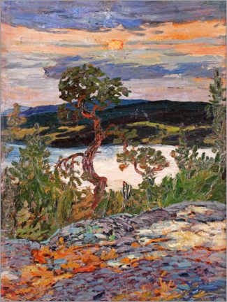 Acrylglas print  Evening in Ångerman - Helmer Osslund