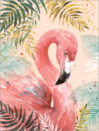 Acrylglas print  Flamingo in the jungle - Di Brookes