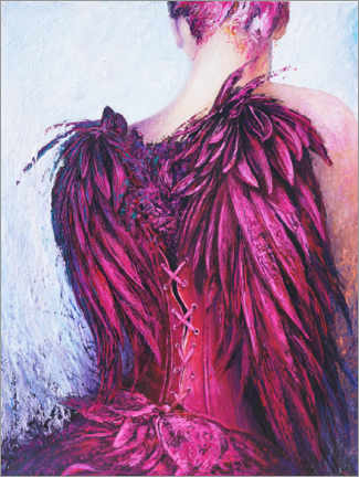 Canvas print  Purple Angel - Renate Berghaus