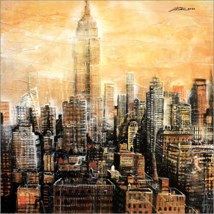 Canvas print  New York, Empire State Building - Johann Pickl