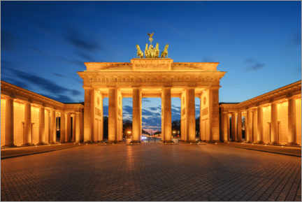 Acrylglas print  Brandenburg Gate at the blue hour - Robin Oelschlegel