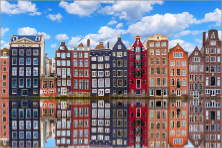 Acrylglas print  Houses are reflected on the canal, Amsterdam - George Pachantouris