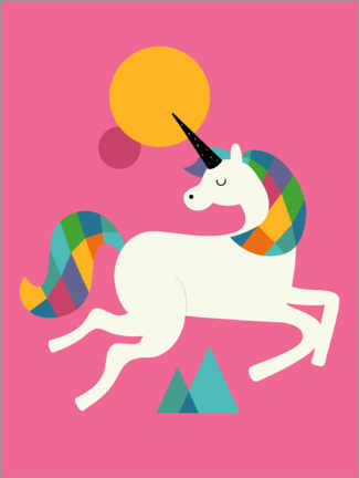 Canvas print  To Be A Unicorn - Andy Westface