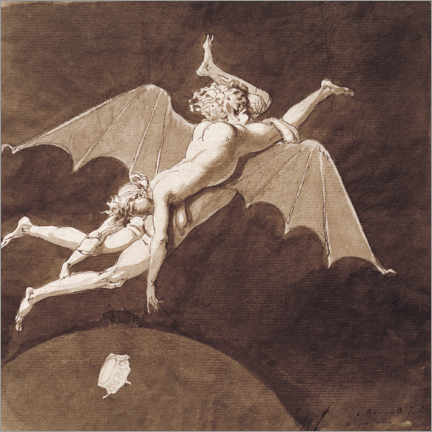 Acrylglas print  Descent into Hell by Catherine the Great - Nicolai Abraham Abildgaard