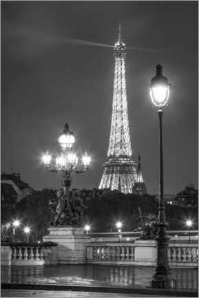 Acrylglas print  Pont Alexandre III and Eiffel Tower in Paris - Jan Christopher Becke