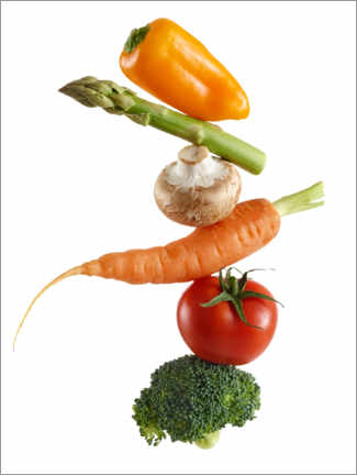 Canvas print  Stack of fresh vegetables