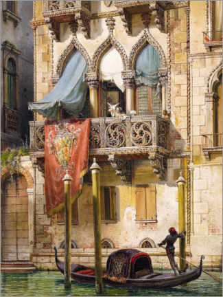 Acrylglas print  Palazzo Contarini in Venice (House of the Desdemona) - Friedrich Nerly