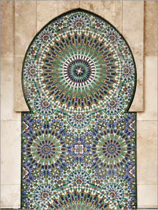 Acrylglas print  Decorative, Moroccan mosaic - Art Couture