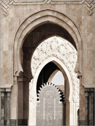 Canvas print  Arches of the Hassan II Mosque in Morocco - Art Couture