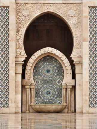 Canvas print  Hassan II Mosque, Casablanca, Morocco - Art Couture