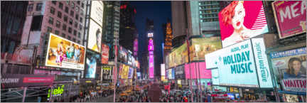 Canvas print  Times Square Panorama - Jan Christopher Becke