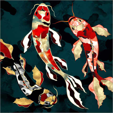 Canvas print  Metallic Koi - SpaceFrog Designs