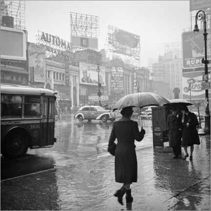 Acrylglas print  Times Square on a rainy day in 1944 - Christian Müringer
