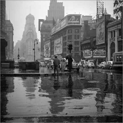 Acrylglas print  Times Square on a rainy day, 1943 - Christian Müringer