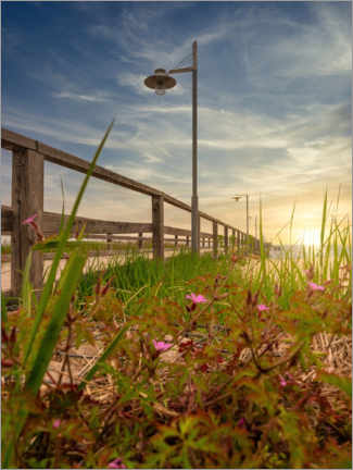 Premium poster Bansin Pier Usedom Island and the Baltic Sea