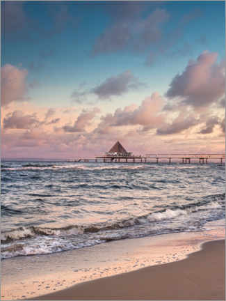 Premium poster Heringsdorf Insel Usedom and the pier