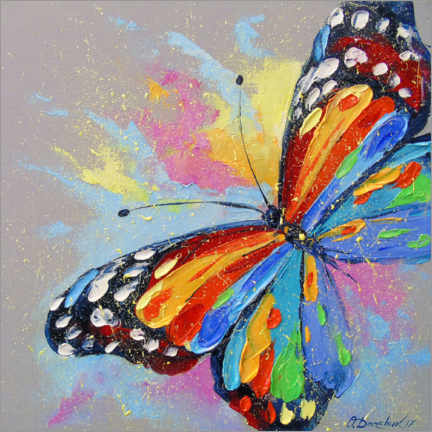 Canvas print  Butterfly in flight - Olha Darchuk