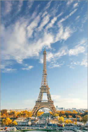 Premium poster Eiffel tower in autumn, Paris