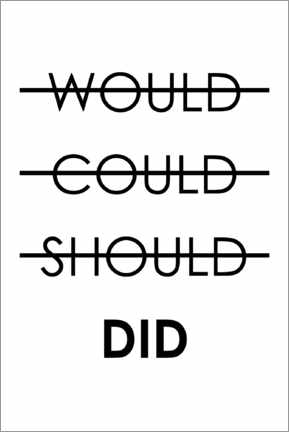 Canvas print  Would, could, should, do (English) - Typobox