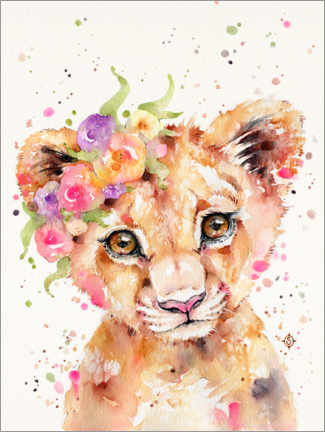 Canvas print  Little Lioness - Sillier Than Sally