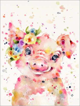 Canvas print  Little Piglet - Sillier Than Sally