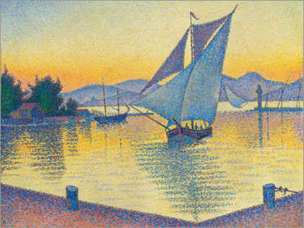 Acrylglas print  Harbor in the sunset - Paul Signac