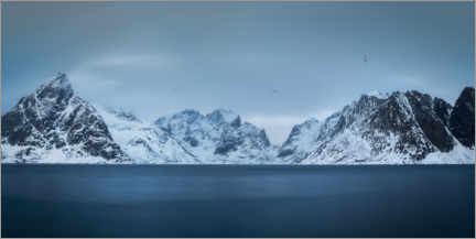 Premium poster Mountains of the Lofoten Islands
