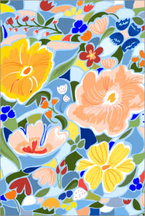Premium poster Summery Floral
