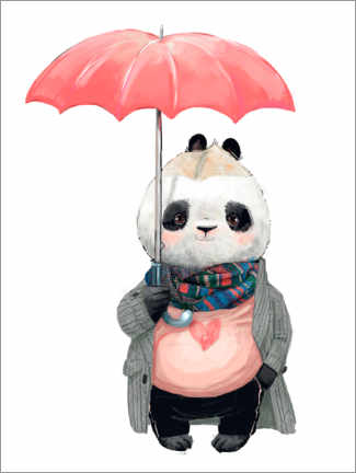 Canvas print  Rain panda - Kidz Collection