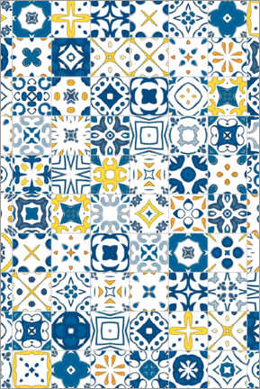 Acrylglas print  Decorative azulejo pattern