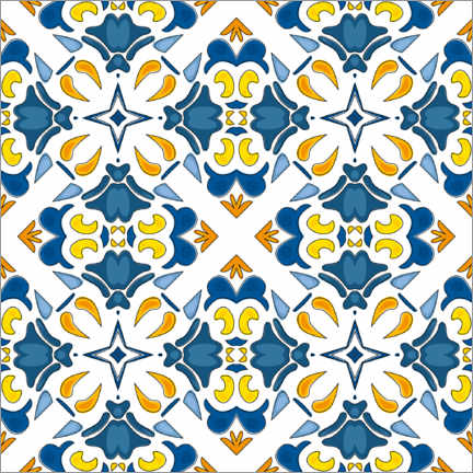 Acrylglas print  Summery azulejo decor