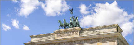 Canvas print  Quadriga statue at the Brandenburg Gate - Jan Christopher Becke