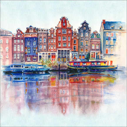 Acrylglas print  The canals of Amsterdam