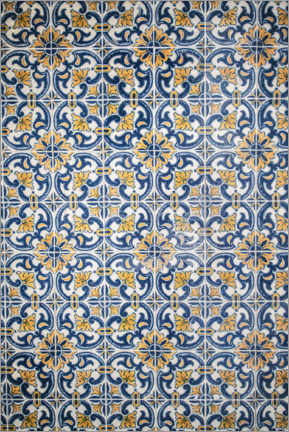Acrylglas print  Azulejos blue-orange