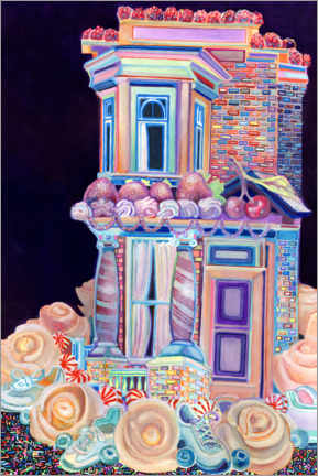 Acrylglas print  Row House Cake with Sneakers - Josh Byer