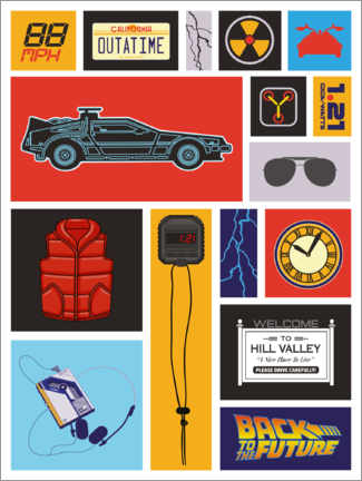 Premium poster  Back to the future Pop Art