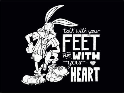 Canvas print  Bugs Bunny - Soccer quote