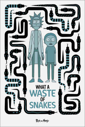 Muursticker  Rick and Morty - Waste of Snakes