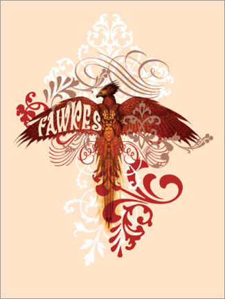 Premium poster  Harry Potter - Fawkes