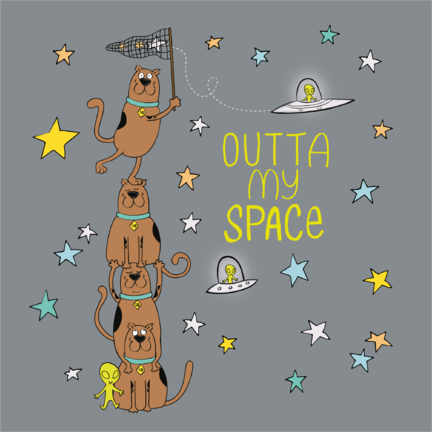 PVC print  Scooby - Outta my space