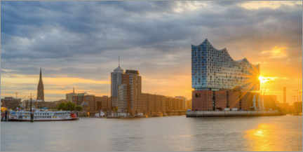 Canvas print  Elbphilharmonie in Hamburg Panorama - Michael Valjak