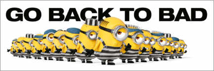 Hout print  Minions - Back to bad