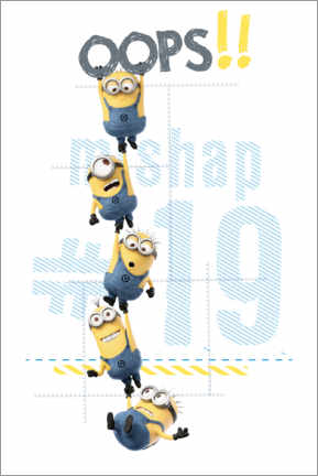 Premium poster  Minions - Oops