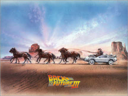 Premium poster  Back to the future III - Paardenkoets